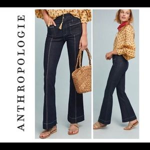 Pilcro and the Letterpress Jeans - Anthropologie high-waisted flares